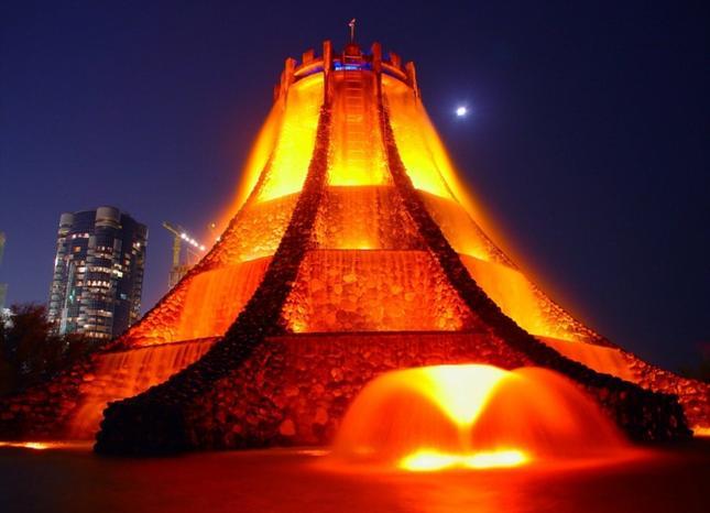 volcano fountain